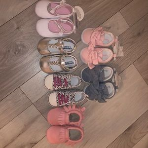 Other - 6 pairs soft bottom baby shoes sneakers slippers
